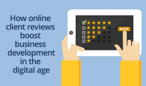Online reviews boost business development