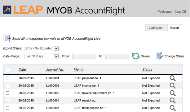 LEAP Legal Software Integrations | MYOB